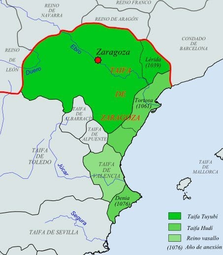 Taifa de Zaragoza en 1080