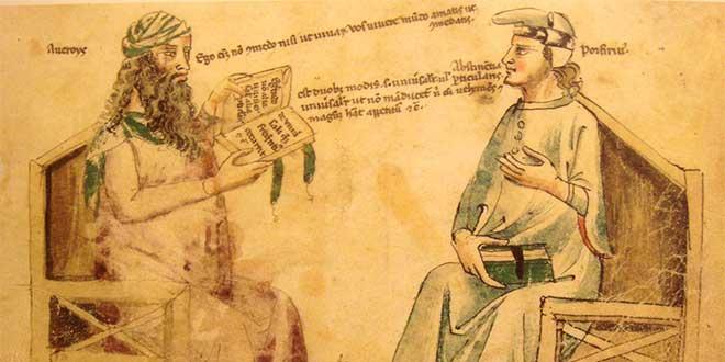 Conversación imaginaria entre Averroes y Porfirio el filosofo