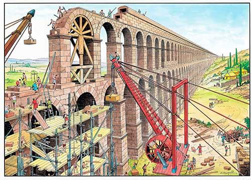 Construcción del Acueducto de Segovia