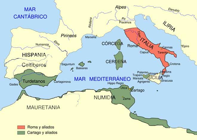 mapa cartago hispania