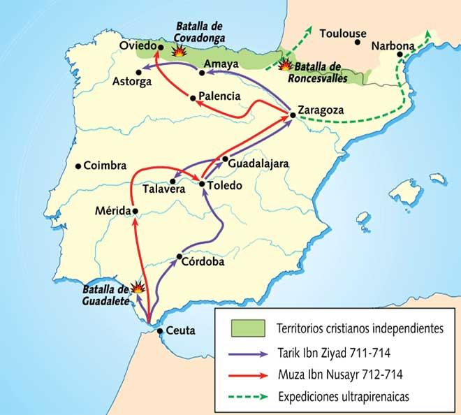 mapa conquista mulmana