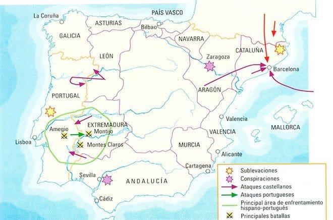 mapa crisis de 1640