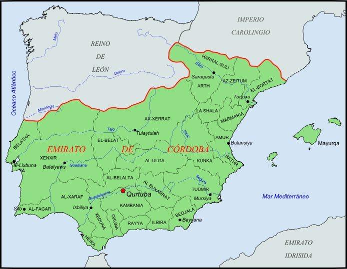 mapa emirato cordoba