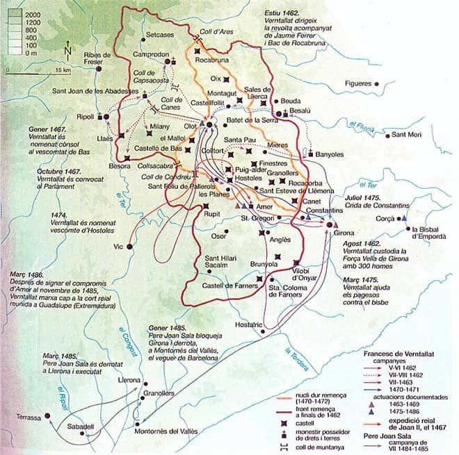 mapa guerra civil catalana
