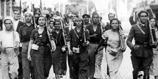 militantes guerra civil