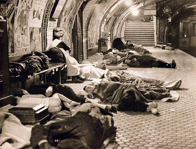 refugiados bombardeo metro madrid