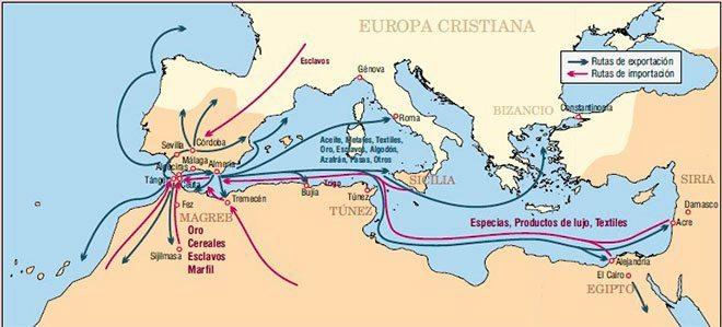 rutas comerciale al-andalus